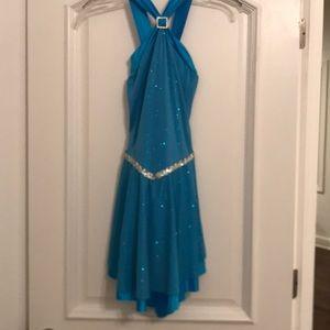 Blue Ice Dance Dress
